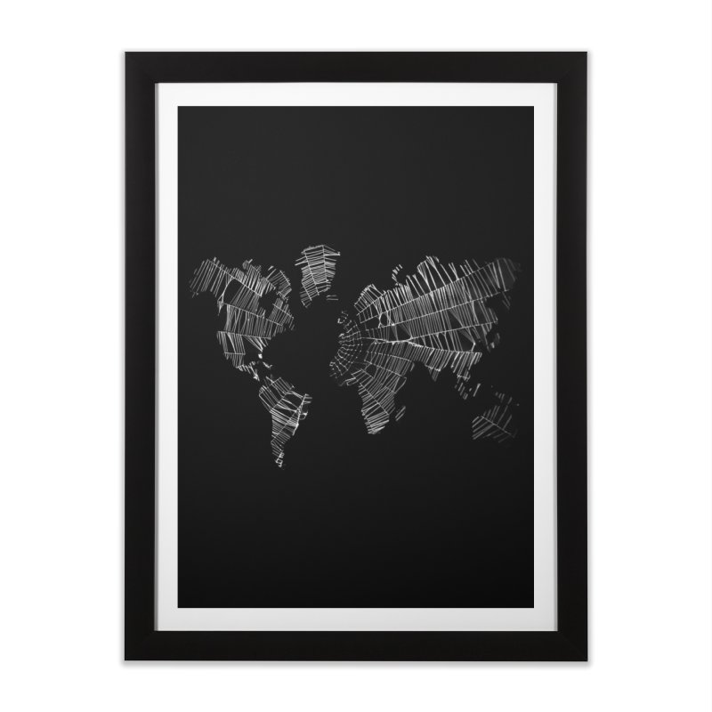 World Wide Web Home Framed Fine Art Print by Made by MAD