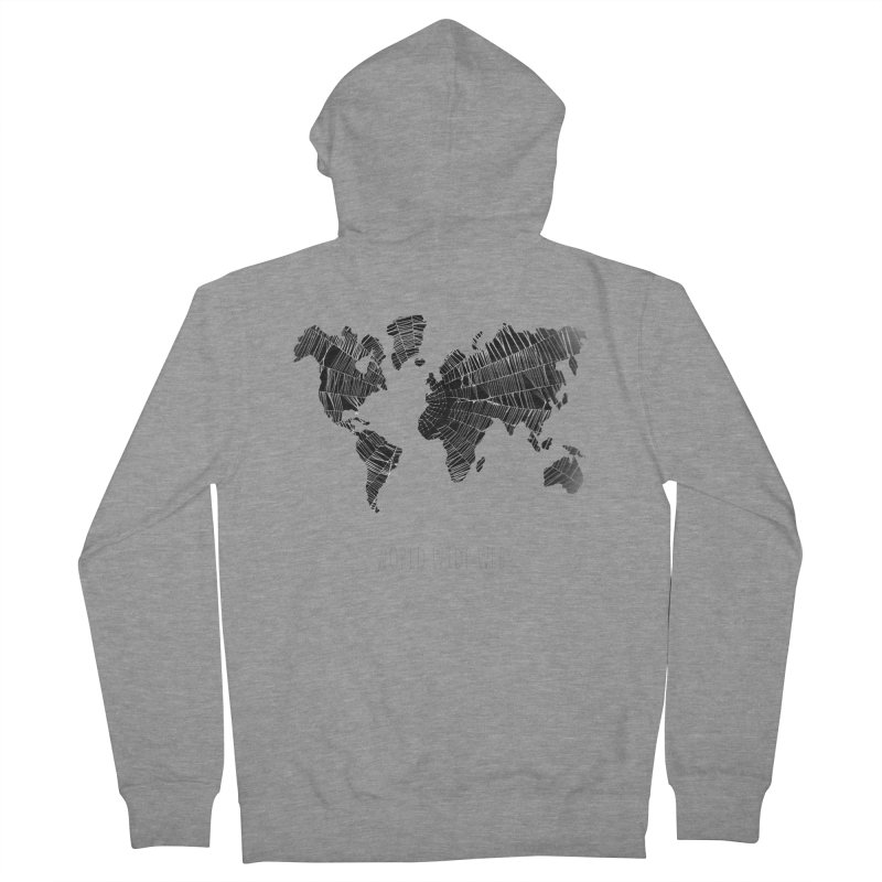 World Wide Web Men's French Terry Zip-Up Hoody by Made by MAD