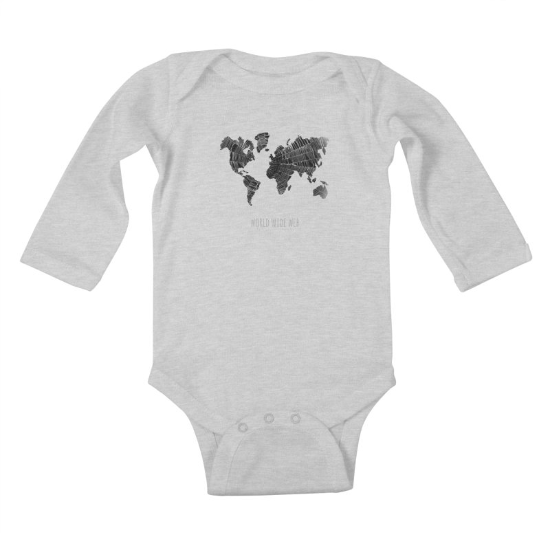 World Wide Web Kids Baby Longsleeve Bodysuit by Made by MAD