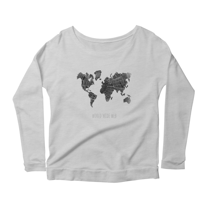 World Wide Web Women's Scoop Neck Longsleeve T-Shirt by Made by MAD