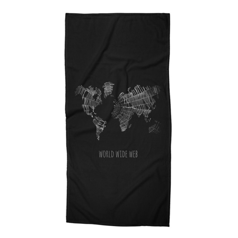 World Wide Web Accessories Beach Towel by Made by MAD