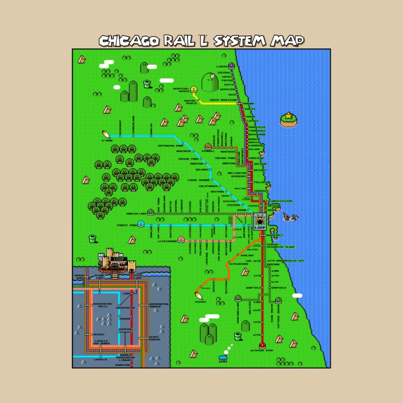Chicago Super Mario World L Map None  by Mario Maps