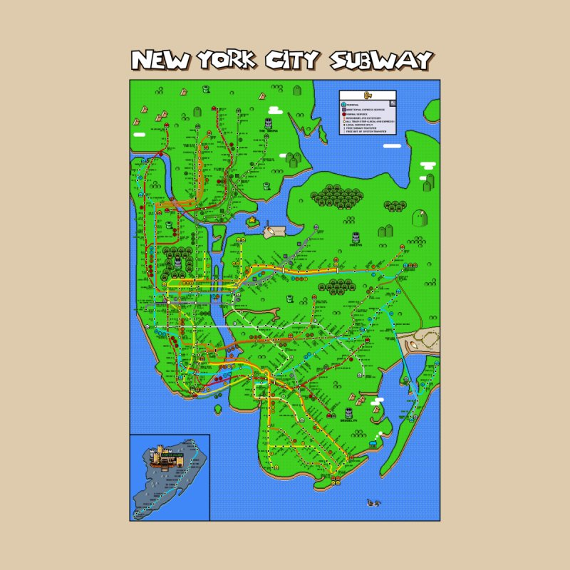 New York Super Mario World Map