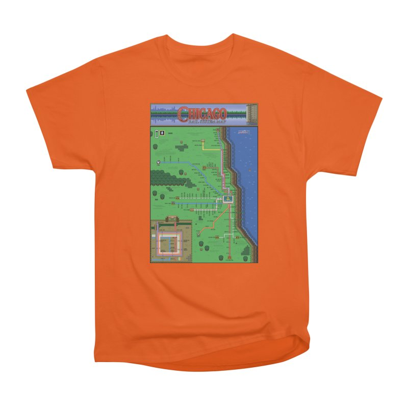 Chicago Zelda Map Men's T-Shirt by Mario Maps