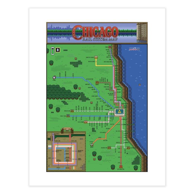 Chicago Zelda Map Home Fine Art Print by Mario Maps