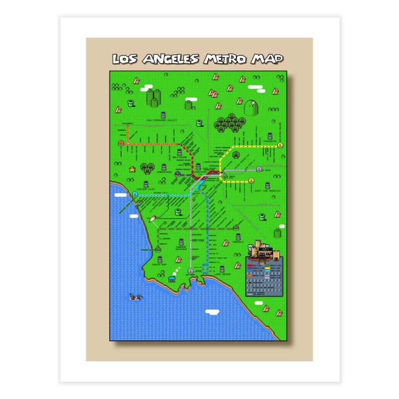 Los Angeles Super Mario World Home Fine Art Print by Mario Maps