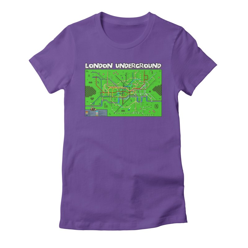 London Super Mario Map Women's Fitted T-Shirt by Mario Maps