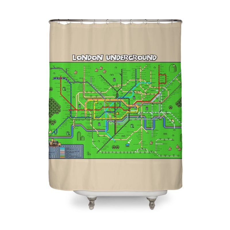 London Super Mario Map Home Shower Curtain by Mario Maps