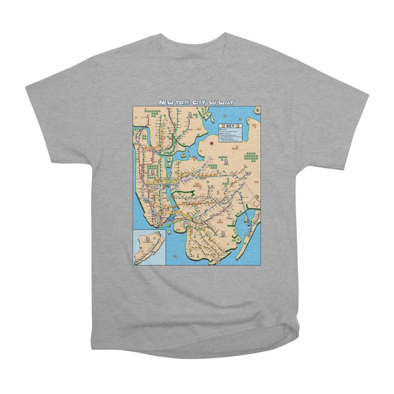 New York Super Mario 3 Men's Heavyweight T-Shirt by Mario Maps