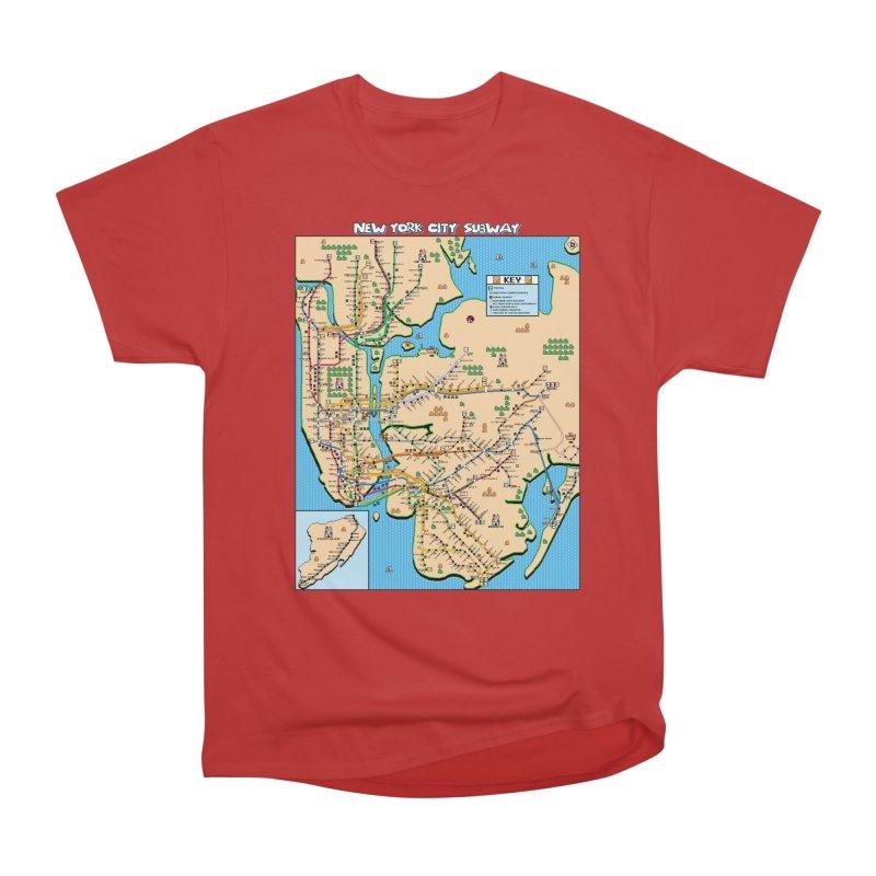 New York Super Mario 3 Women's Heavyweight Unisex T-Shirt by Mario Maps