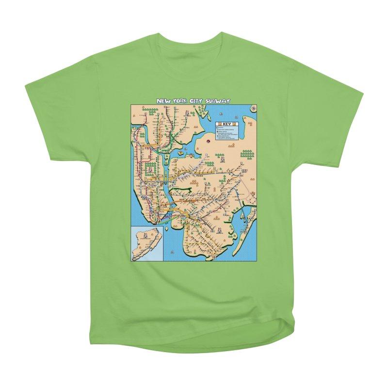 New York Super Mario 3 Men's Heavyweight T-Shirt by Mario Maps