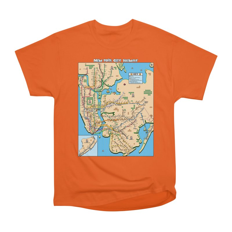 New York Super Mario 3 Women's Heavyweight Unisex T-Shirt by Mario Maps