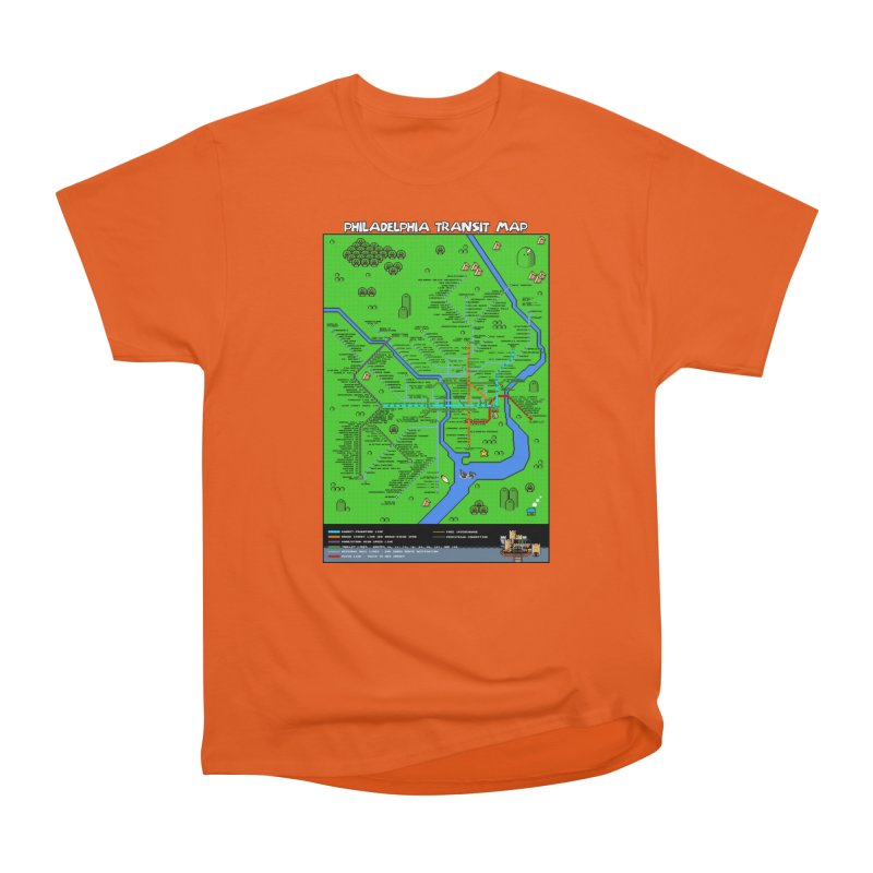 Philadelphia Super Mario World Men's T-Shirt by Mario Maps