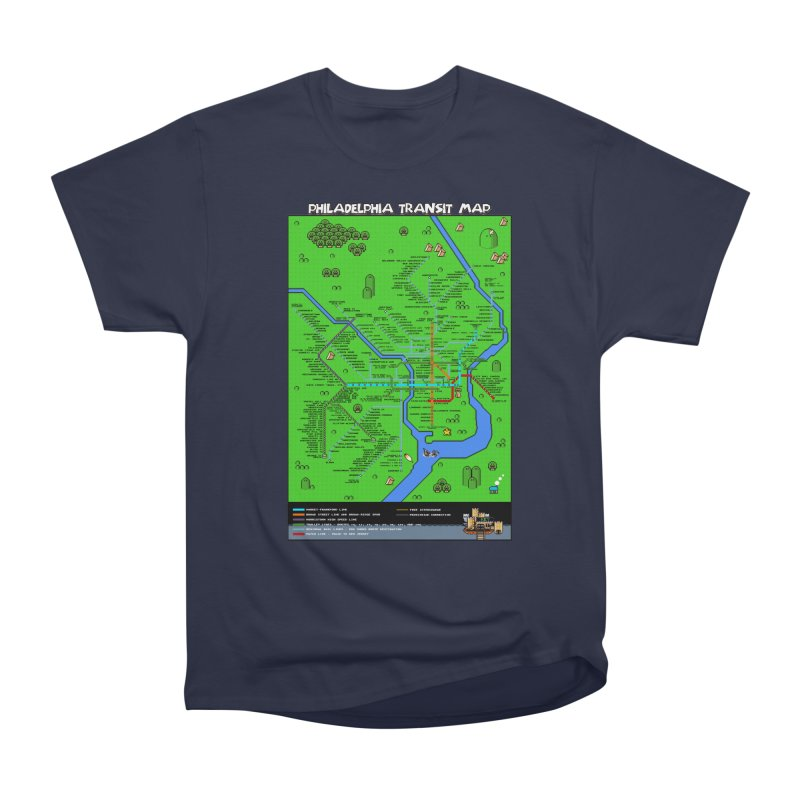 Philadelphia Super Mario World Men's Heavyweight T-Shirt by Mario Maps