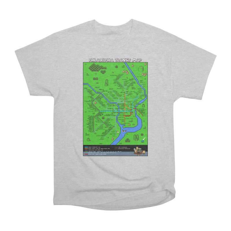 Philadelphia Super Mario World Women's Heavyweight Unisex T-Shirt by Mario Maps