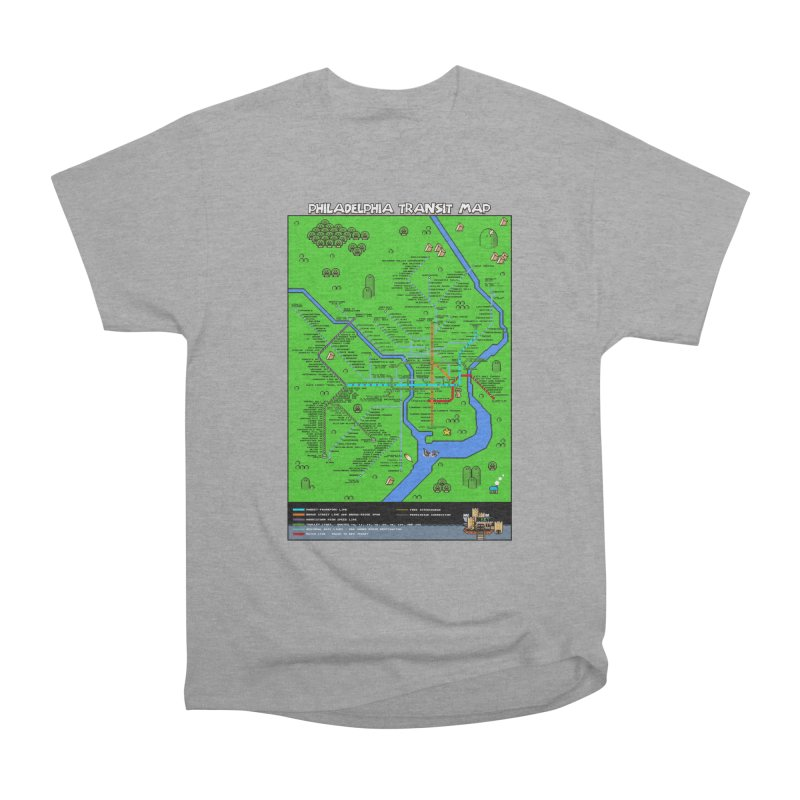 Philadelphia Super Mario World Men's Classic T-Shirt by Mario Maps
