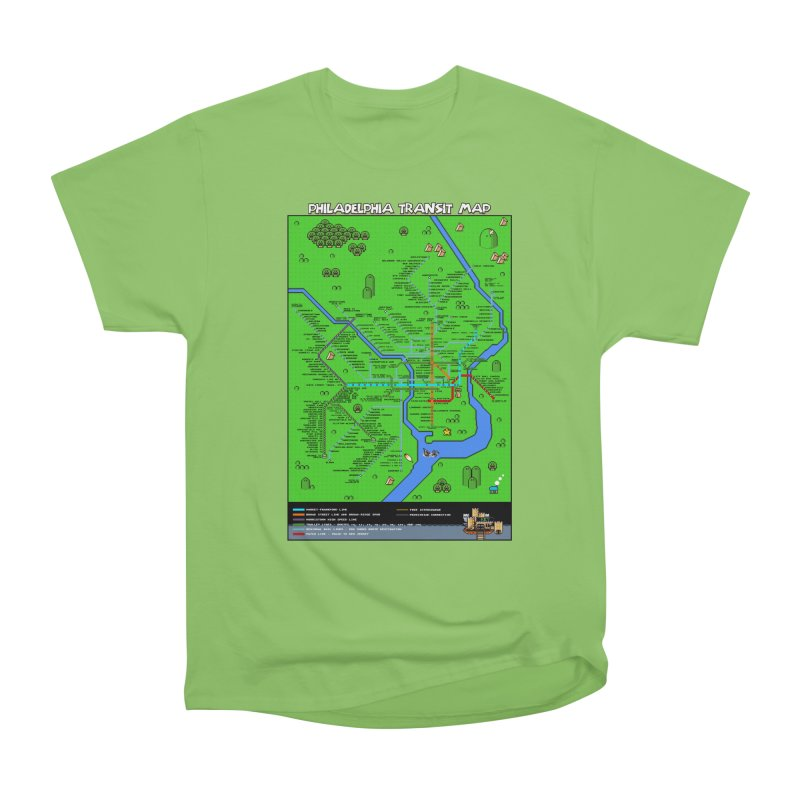 Philadelphia Super Mario World Men's Heavyweight T-Shirt by Mario Maps