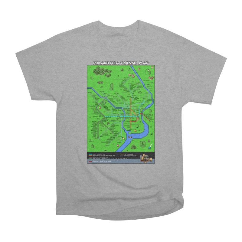 Philadelphia Super Mario World Women's Heavyweight Unisex T-Shirt by Mario Maps