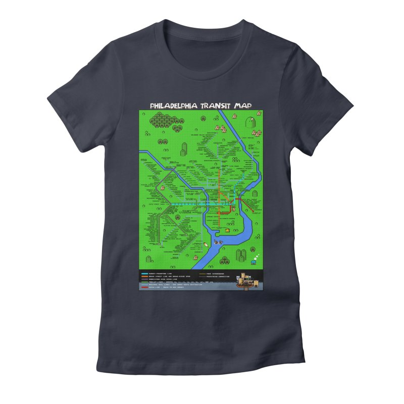 Philadelphia Super Mario World Women's Fitted T-Shirt by Mario Maps