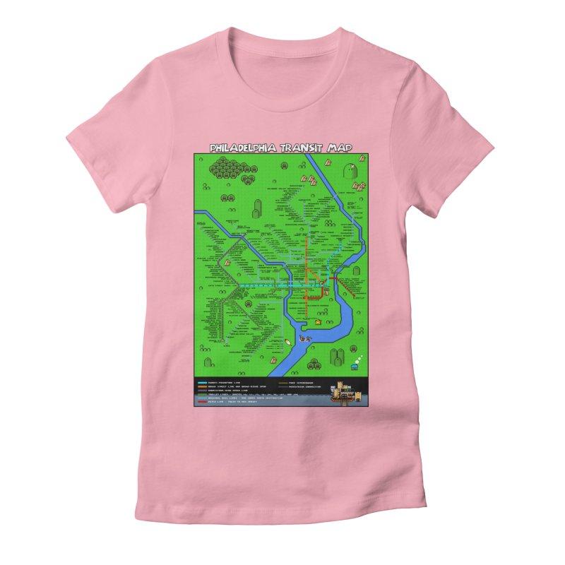 Philadelphia Super Mario World Women's Fitted T-Shirt by Mario Maps