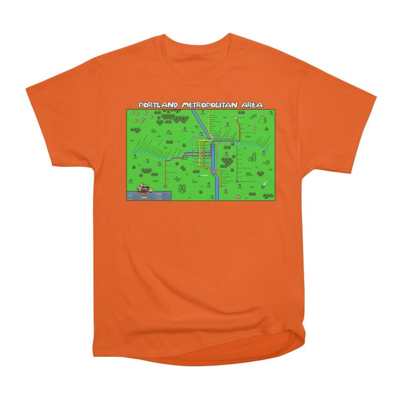Portland Super Mario World Men's T-Shirt by Mario Maps