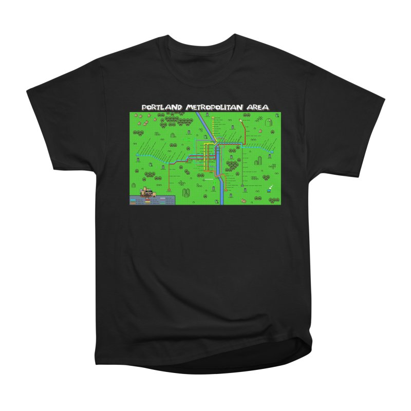 Portland Super Mario World Men's Classic T-Shirt by Mario Maps