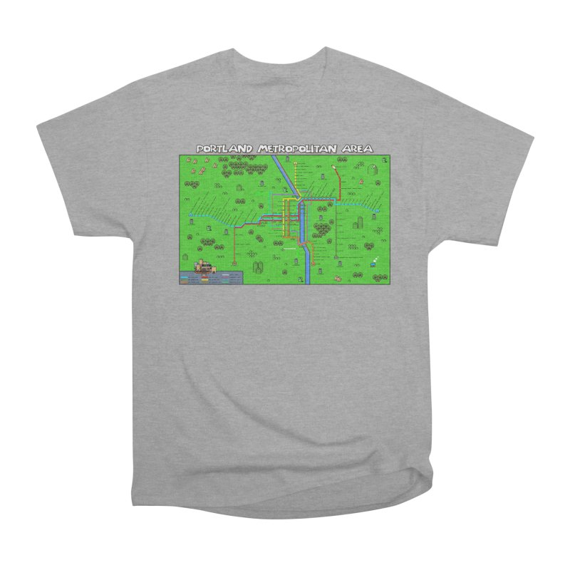 Portland Super Mario World Women's Heavyweight Unisex T-Shirt by Mario Maps