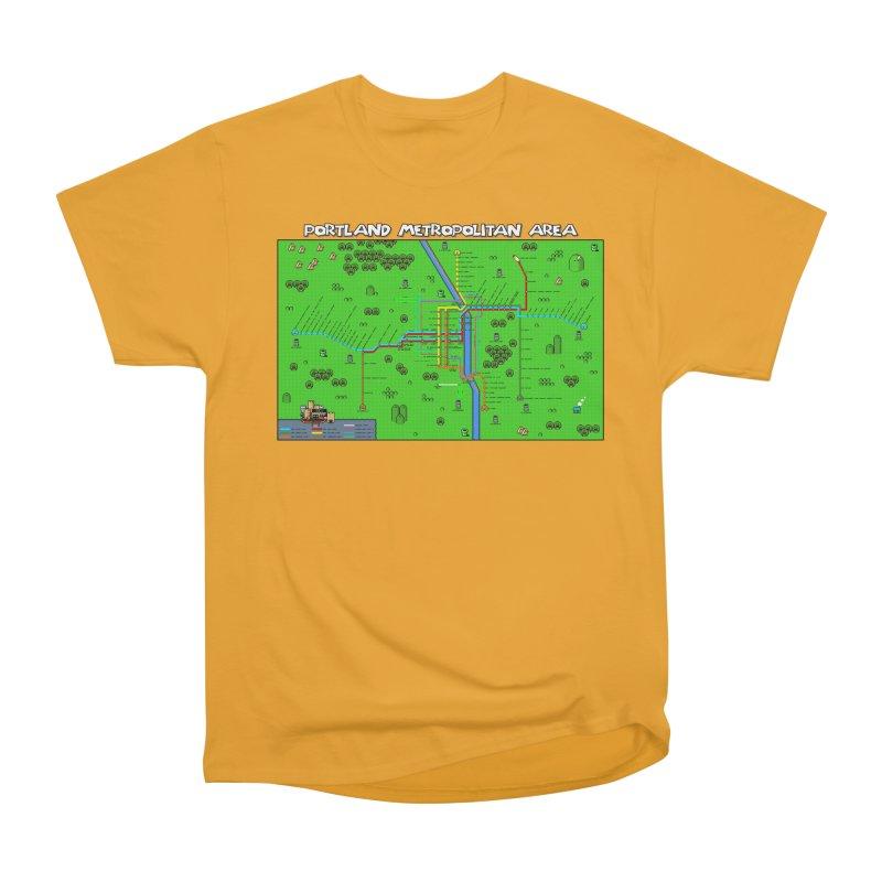 Portland Super Mario World Men's Heavyweight T-Shirt by Mario Maps