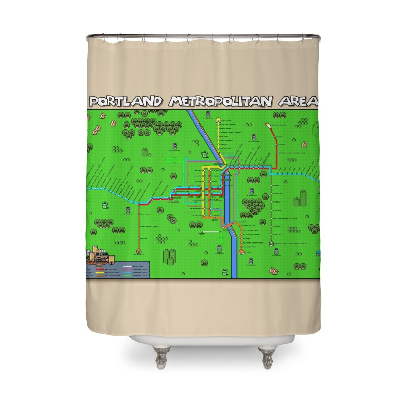 Portland Super Mario World Home Shower Curtain by Mario Maps