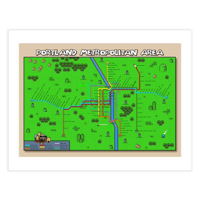 Portland Super Mario World Home Fine Art Print by Mario Maps