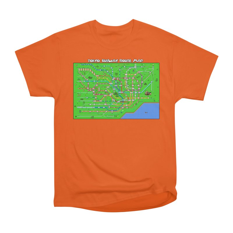 Tokyo Super Mario Map Men's T-Shirt by Mario Maps