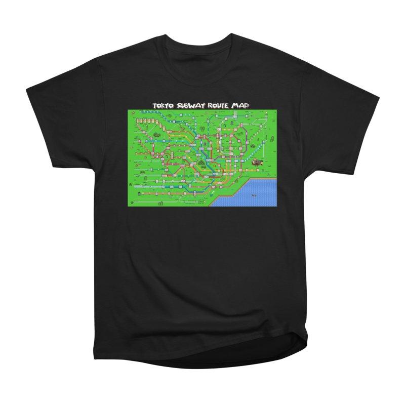 Tokyo Super Mario Map Men's Heavyweight T-Shirt by Mario Maps