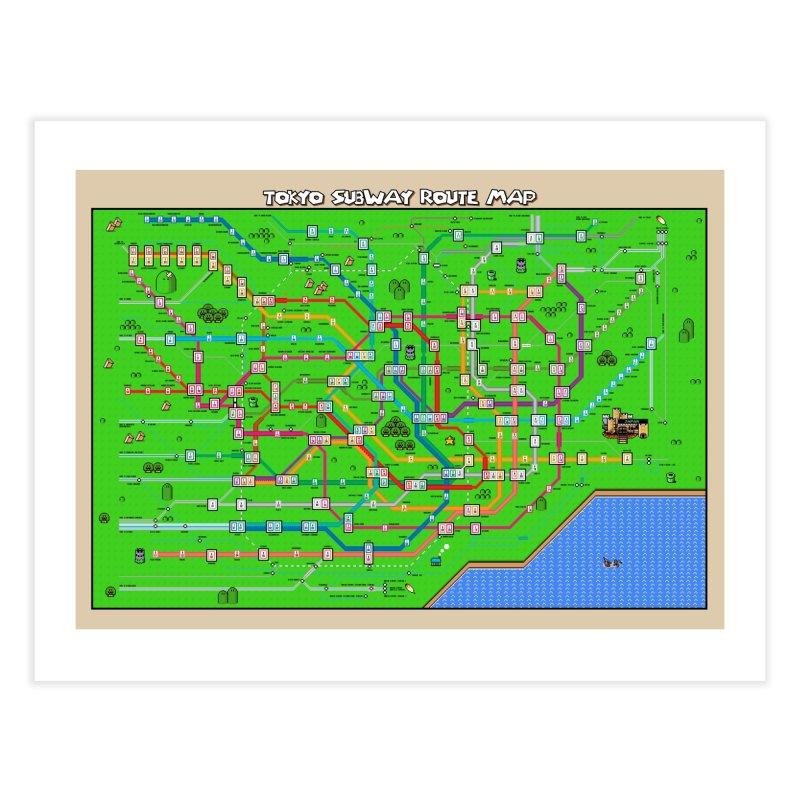 Tokyo Super Mario Map Home Fine Art Print by Mario Maps