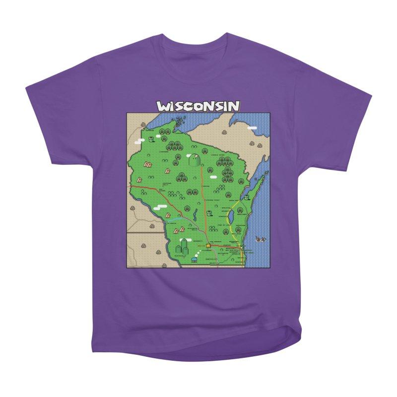 Wisconsin Super Mario Map Women's Classic Unisex T-Shirt by Mario Maps