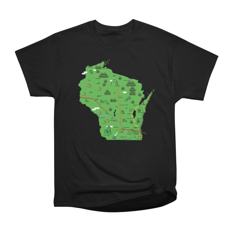 Wisconsin Super Mario Map Men's Classic T-Shirt by Mario Maps