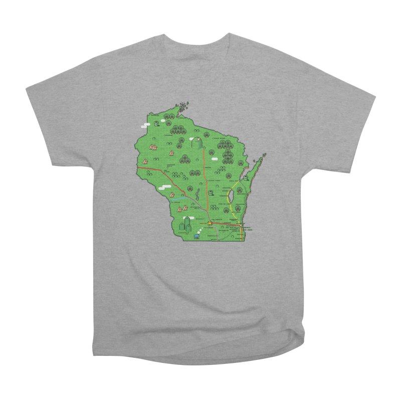 Wisconsin Super Mario Map Men's Classic T-Shirt by Mario Maps