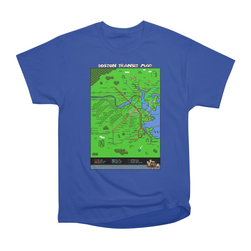Boston Super Mario Map Women's Classic Unisex T-Shirt by Mario Maps