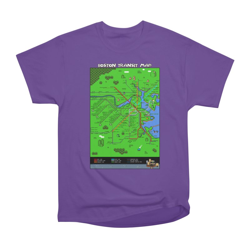 Boston Super Mario Map Women's Heavyweight Unisex T-Shirt by Mario Maps