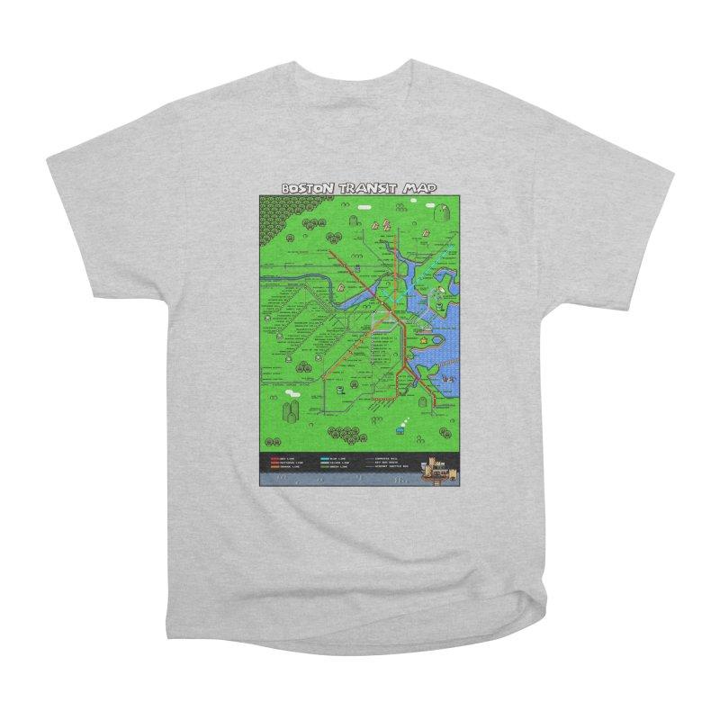 Boston Super Mario Map Women's Heavyweight Unisex T-Shirt by Mario Maps