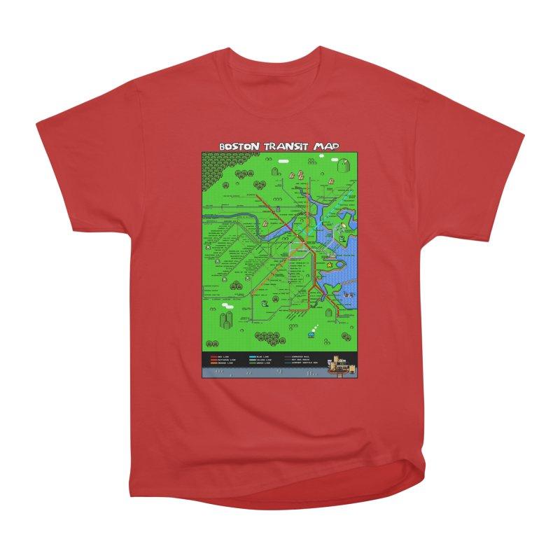 Boston Super Mario Map Men's Classic T-Shirt by Mario Maps