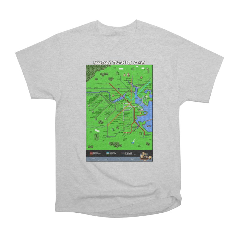 Boston Super Mario Map Men's Heavyweight T-Shirt by Mario Maps