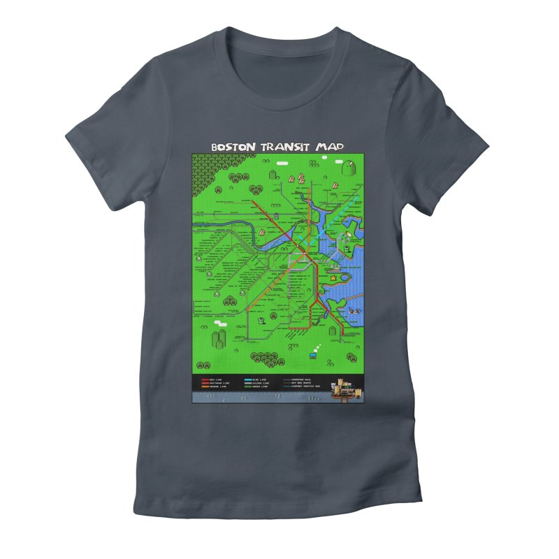 Boston Super Mario Map Women's T-Shirt by Mario Maps