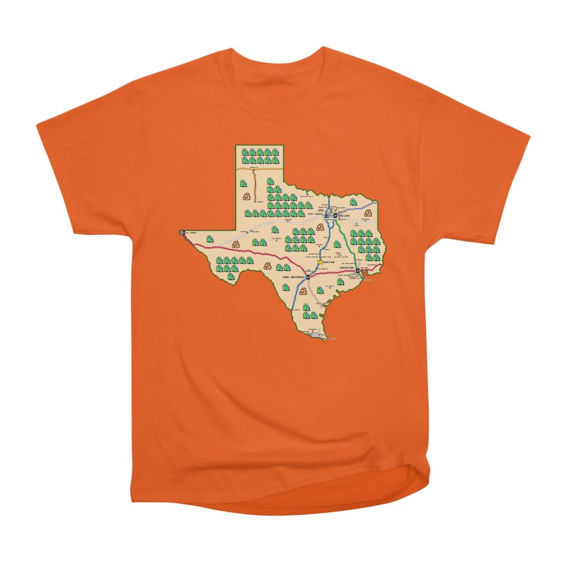 Texas Super Mario 3 Men's T-Shirt by Mario Maps