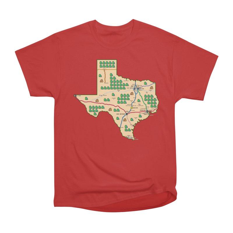 Texas Super Mario 3 Men's Heavyweight T-Shirt by Mario Maps