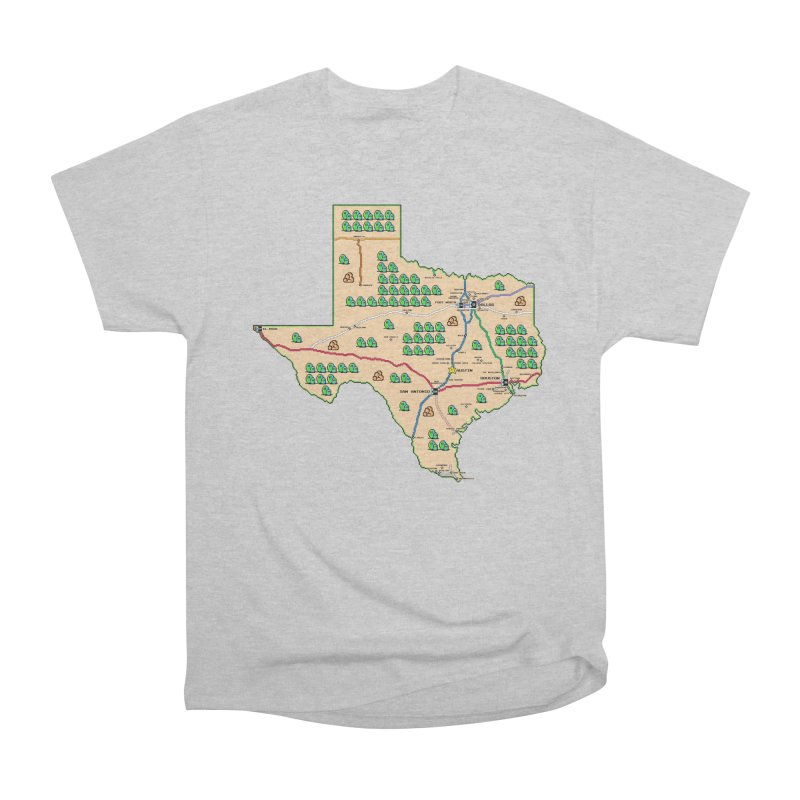 Texas Super Mario 3 Men's Heavyweight T-Shirt by Mario Maps