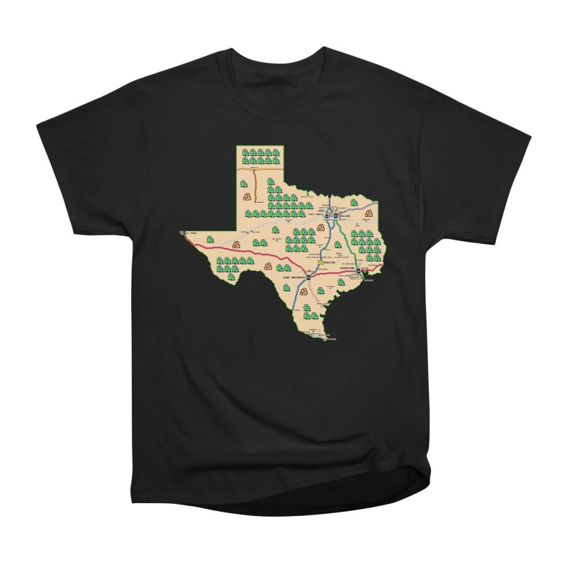 Texas Super Mario 3 Women's Heavyweight Unisex T-Shirt by Mario Maps