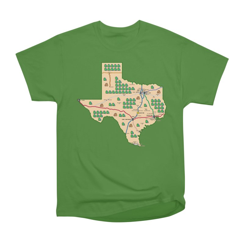 Texas Super Mario 3 Men's Classic T-Shirt by Mario Maps