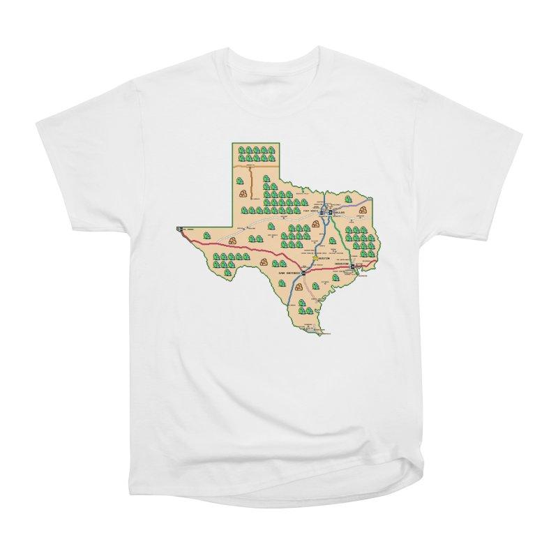 Texas Super Mario 3 Women's Heavyweight Unisex T-Shirt by Mario Maps