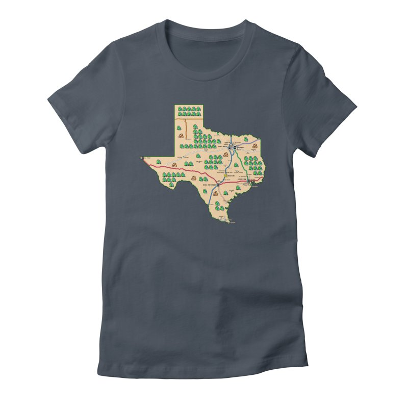 Texas Super Mario 3 Women's T-Shirt by Mario Maps