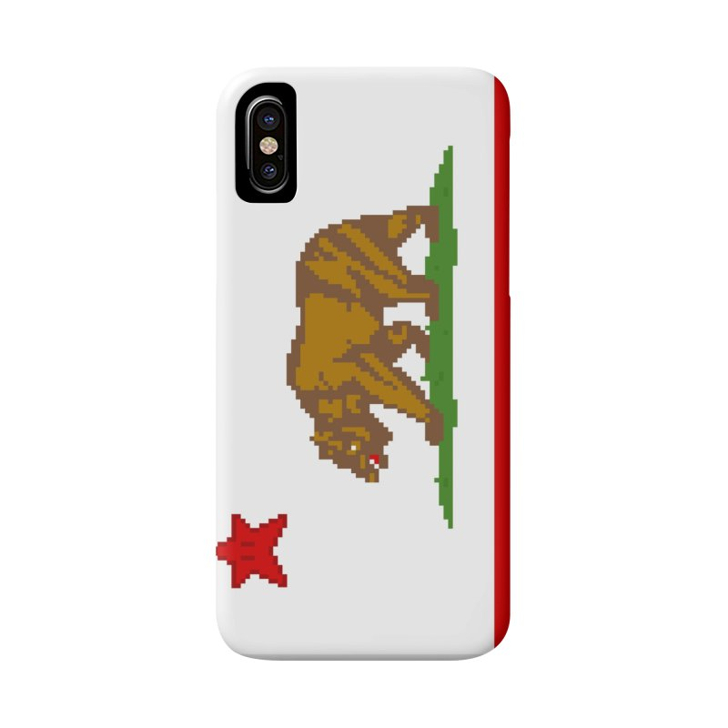 California Pixel Flag Accessories Phone Case by Mario Maps